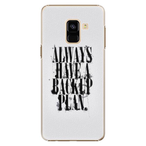Plastové pouzdro iSaprio - Backup Plan - Samsung Galaxy A8 2018