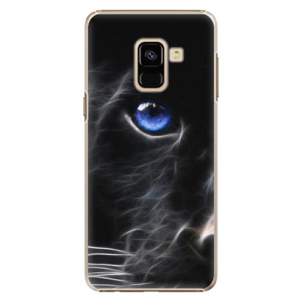 Plastové pouzdro iSaprio - Black Puma - Samsung Galaxy A8 2018