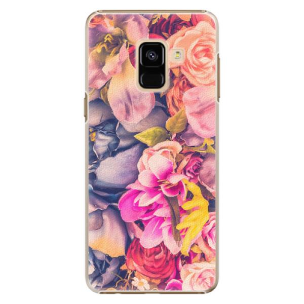 Plastové pouzdro iSaprio - Beauty Flowers - Samsung Galaxy A8 2018