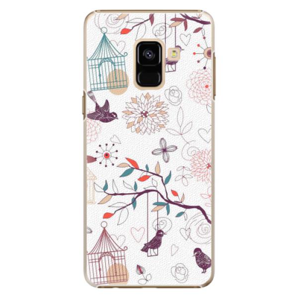 Plastové pouzdro iSaprio - Birds - Samsung Galaxy A8 2018