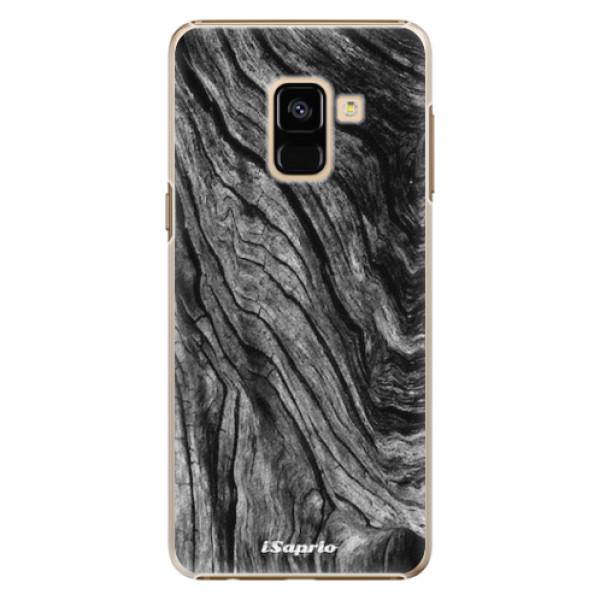 Plastové pouzdro iSaprio - Burned Wood - Samsung Galaxy A8 2018
