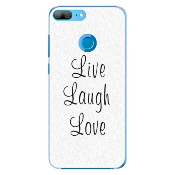 Plastové pouzdro iSaprio - Live Laugh Love - Huawei Honor 9 Lite