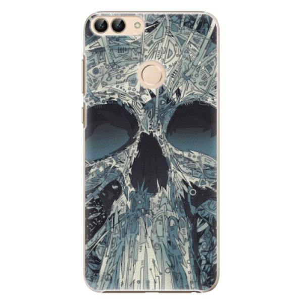 Plastové pouzdro iSaprio - Abstract Skull - Huawei P Smart