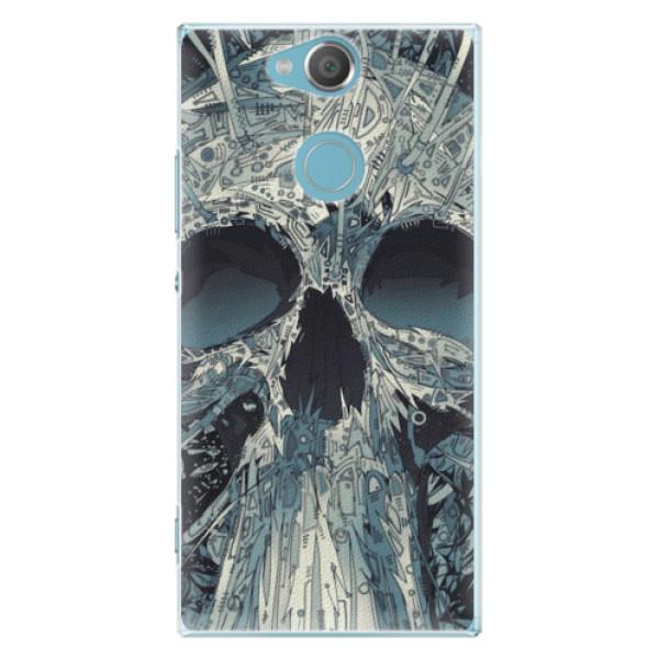 Plastové pouzdro iSaprio - Abstract Skull - Sony Xperia XA2
