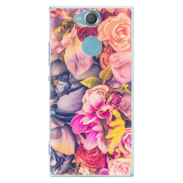 Plastové pouzdro iSaprio - Beauty Flowers - Sony Xperia XA2