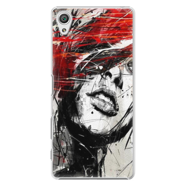 Plastové pouzdro iSaprio - Sketch Face - Sony Xperia X