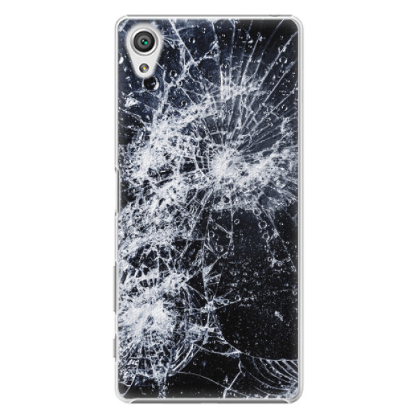 Plastové pouzdro iSaprio - Cracked - Sony Xperia X