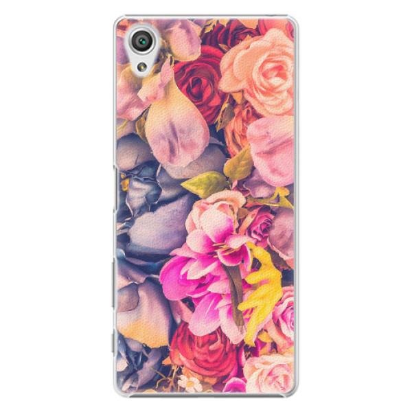 Plastové pouzdro iSaprio - Beauty Flowers - Sony Xperia X
