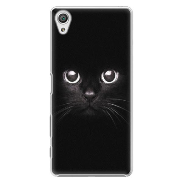 Plastové pouzdro iSaprio - Black Cat - Sony Xperia X