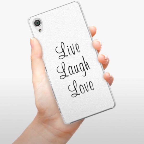 Plastové pouzdro iSaprio - Live Laugh Love - Sony Xperia X