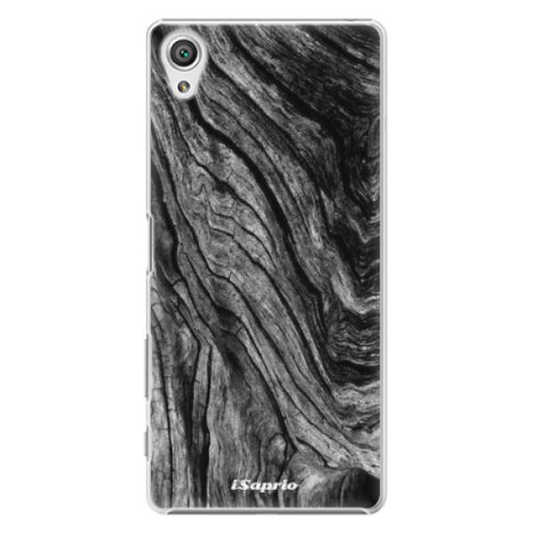 Plastové pouzdro iSaprio - Burned Wood - Sony Xperia X