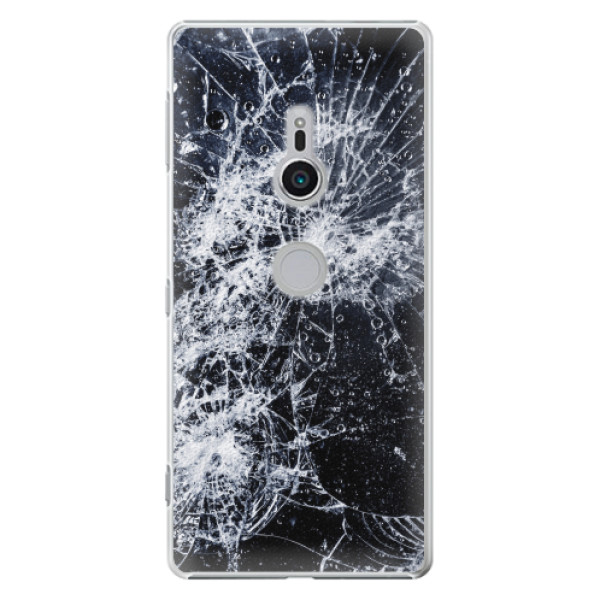Plastové pouzdro iSaprio - Cracked - Sony Xperia XZ2