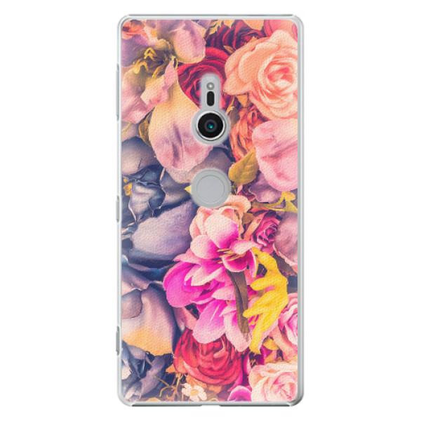 Plastové pouzdro iSaprio - Beauty Flowers - Sony Xperia XZ2