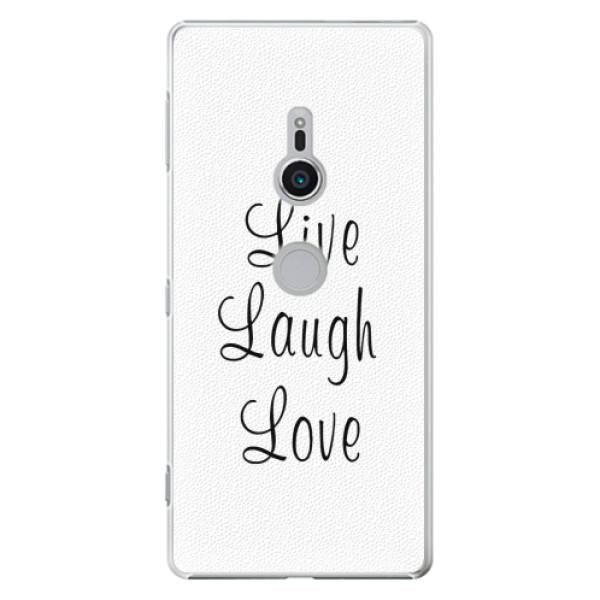 Plastové pouzdro iSaprio - Live Laugh Love - Sony Xperia XZ2