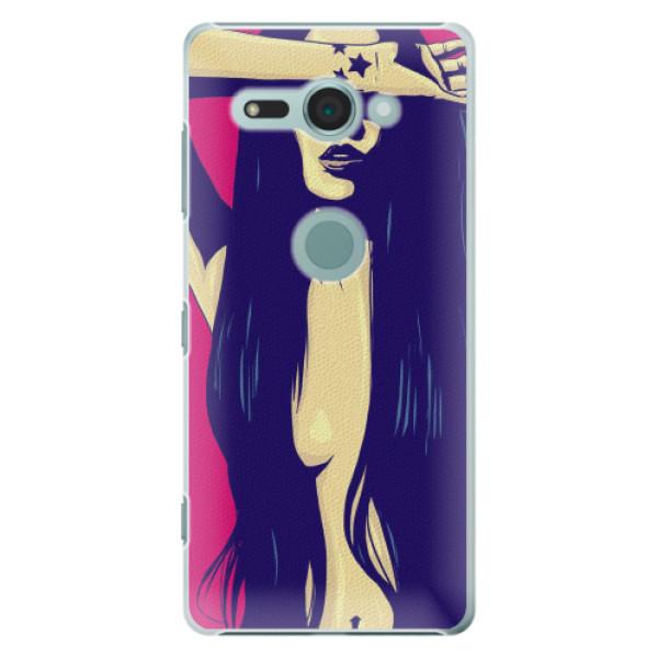 Plastové pouzdro iSaprio - Cartoon Girl - Sony Xperia XZ2 Compact