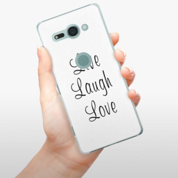 Plastové pouzdro iSaprio - Live Laugh Love - Sony Xperia XZ2 Compact