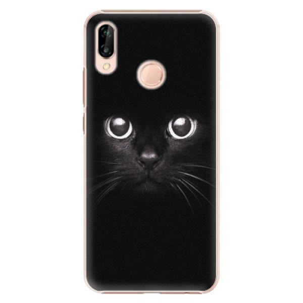 Plastové pouzdro iSaprio - Black Cat - Huawei P20 Lite