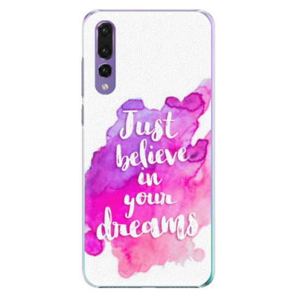 Plastové pouzdro iSaprio - Believe - Huawei P20 Pro