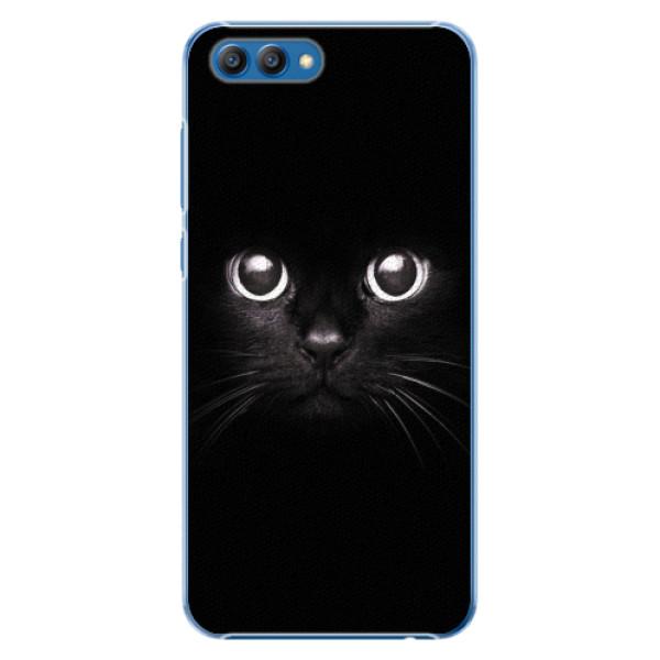 Plastové pouzdro iSaprio - Black Cat - Huawei Honor View 10