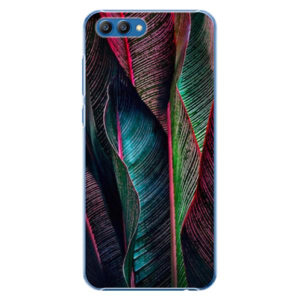 Plastové pouzdro iSaprio - Black Leaves - Huawei Honor View 10