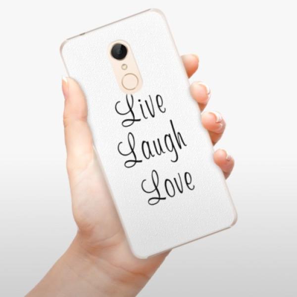 Plastové pouzdro iSaprio - Live Laugh Love - Xiaomi Redmi 5