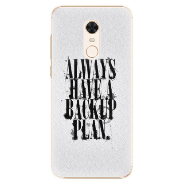Plastové pouzdro iSaprio - Backup Plan - Xiaomi Redmi 5 Plus