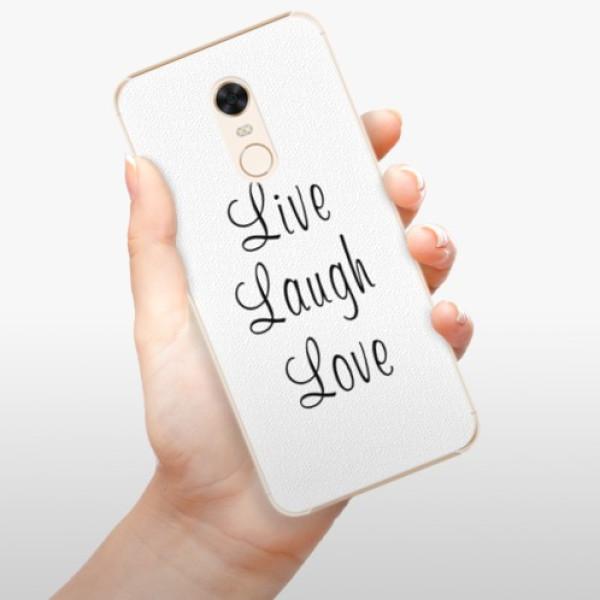 Plastové pouzdro iSaprio - Live Laugh Love - Xiaomi Redmi 5 Plus