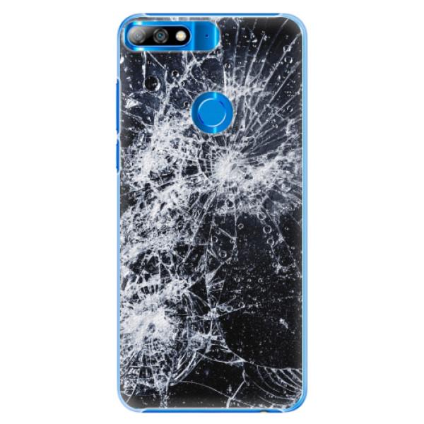 Plastové pouzdro iSaprio - Cracked - Huawei Y7 Prime 2018