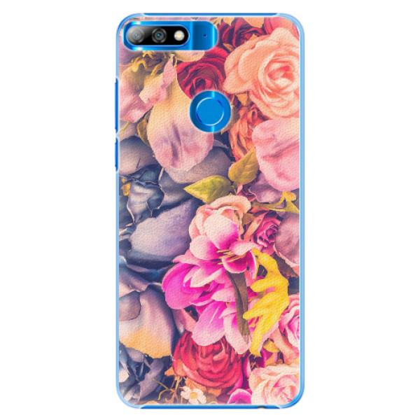 Plastové pouzdro iSaprio - Beauty Flowers - Huawei Y7 Prime 2018