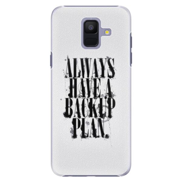 Plastové pouzdro iSaprio - Backup Plan - Samsung Galaxy A6