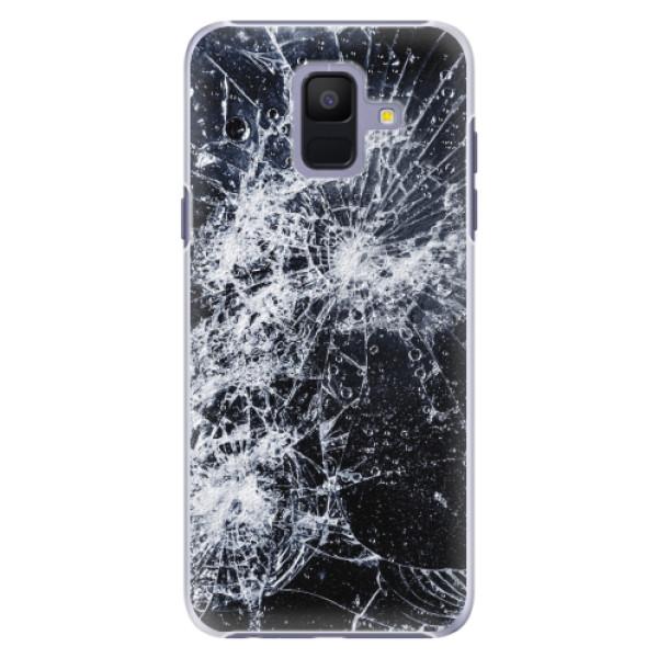 Plastové pouzdro iSaprio - Cracked - Samsung Galaxy A6