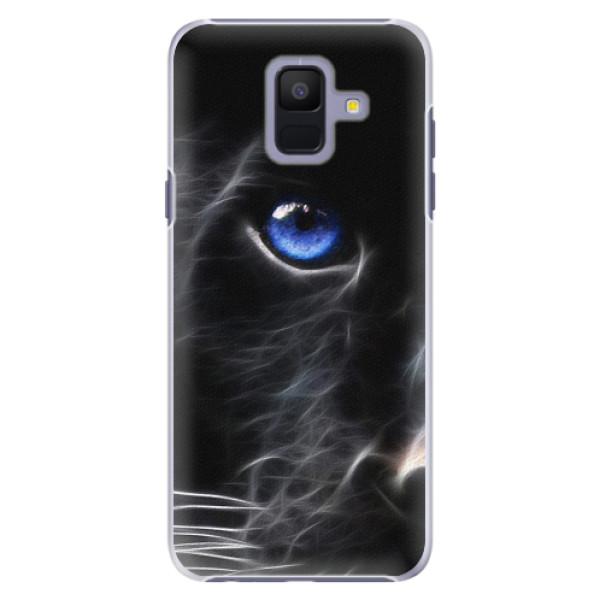 Plastové pouzdro iSaprio - Black Puma - Samsung Galaxy A6