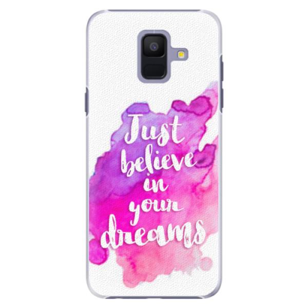 Plastové pouzdro iSaprio - Believe - Samsung Galaxy A6