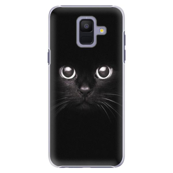 Plastové pouzdro iSaprio - Black Cat - Samsung Galaxy A6