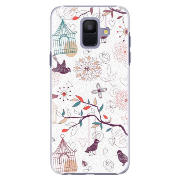 Plastové pouzdro iSaprio - Birds - Samsung Galaxy A6