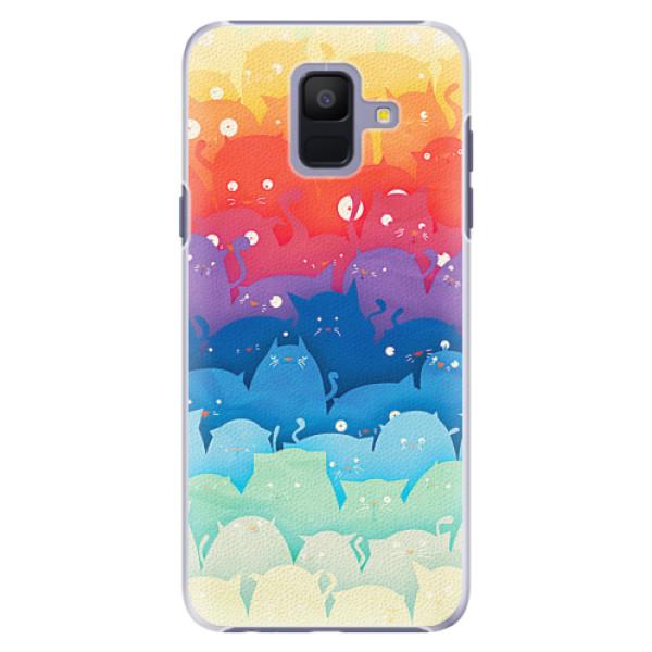 Plastové pouzdro iSaprio - Cats World - Samsung Galaxy A6