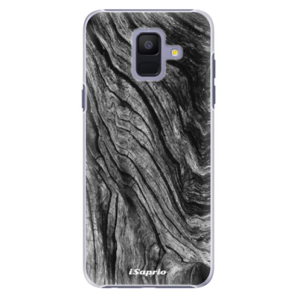 Plastové pouzdro iSaprio - Burned Wood - Samsung Galaxy A6