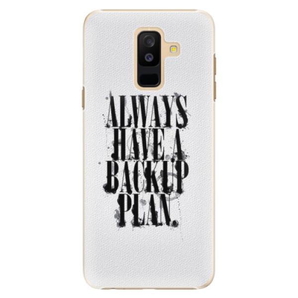 Plastové pouzdro iSaprio - Backup Plan - Samsung Galaxy A6+