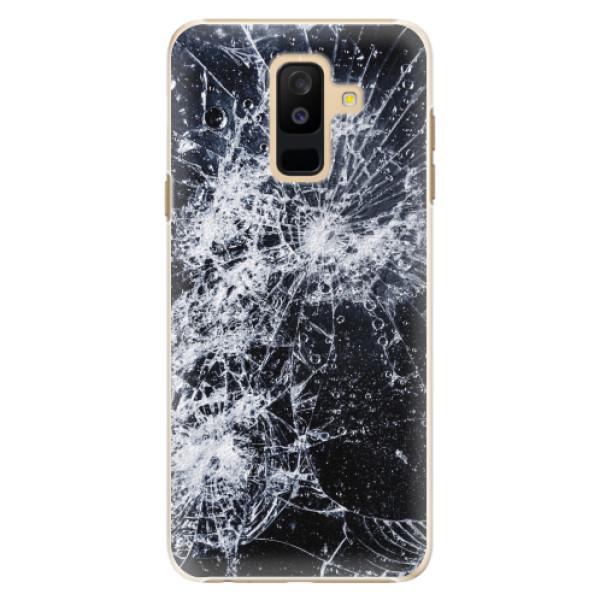 Plastové pouzdro iSaprio - Cracked - Samsung Galaxy A6+