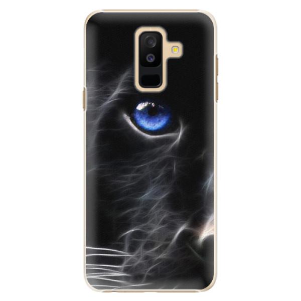Plastové pouzdro iSaprio - Black Puma - Samsung Galaxy A6+