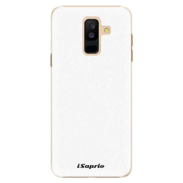 Plastové pouzdro iSaprio - 4Pure - bílý - Samsung Galaxy A6+