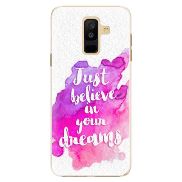 Plastové pouzdro iSaprio - Believe - Samsung Galaxy A6+