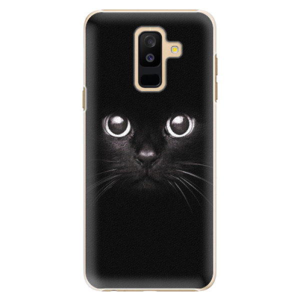 Plastové pouzdro iSaprio - Black Cat - Samsung Galaxy A6+