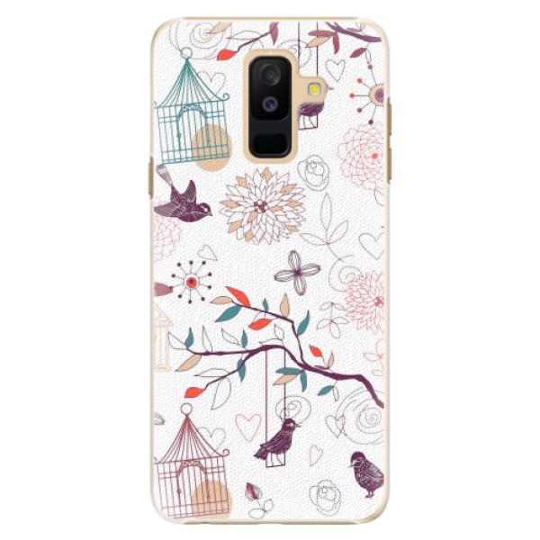 Plastové pouzdro iSaprio - Birds - Samsung Galaxy A6+