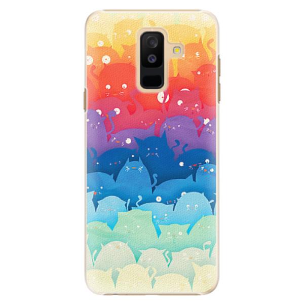 Plastové pouzdro iSaprio - Cats World - Samsung Galaxy A6+