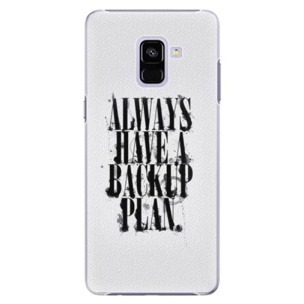 Plastové pouzdro iSaprio - Backup Plan - Samsung Galaxy A8+