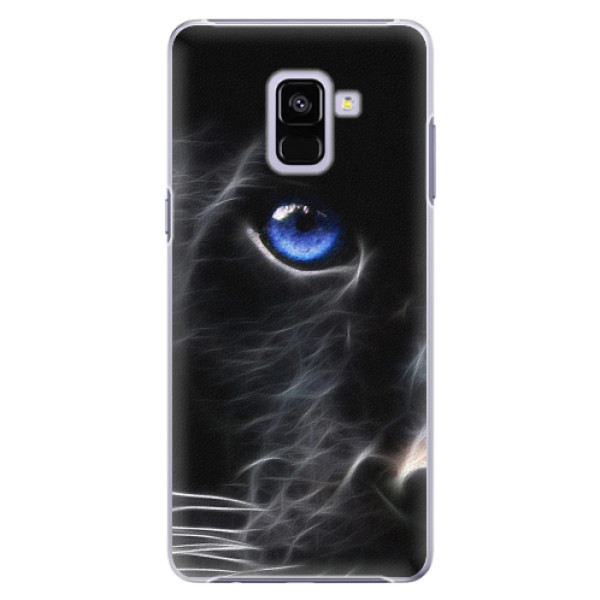Plastové pouzdro iSaprio - Black Puma - Samsung Galaxy A8+