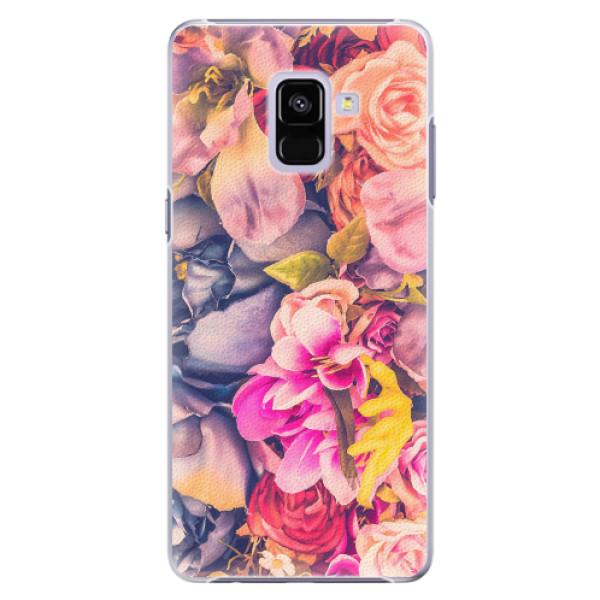 Plastové pouzdro iSaprio - Beauty Flowers - Samsung Galaxy A8+