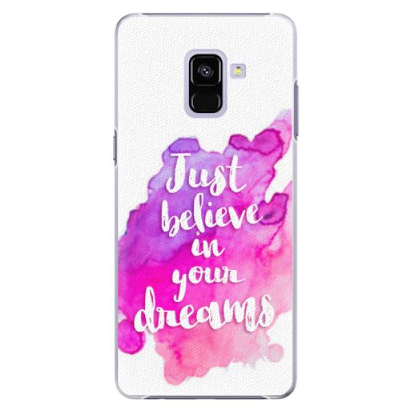 Plastové pouzdro iSaprio - Believe - Samsung Galaxy A8+