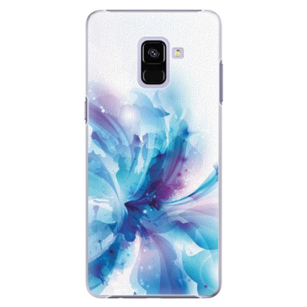 Plastové pouzdro iSaprio - Abstract Flower - Samsung Galaxy A8+